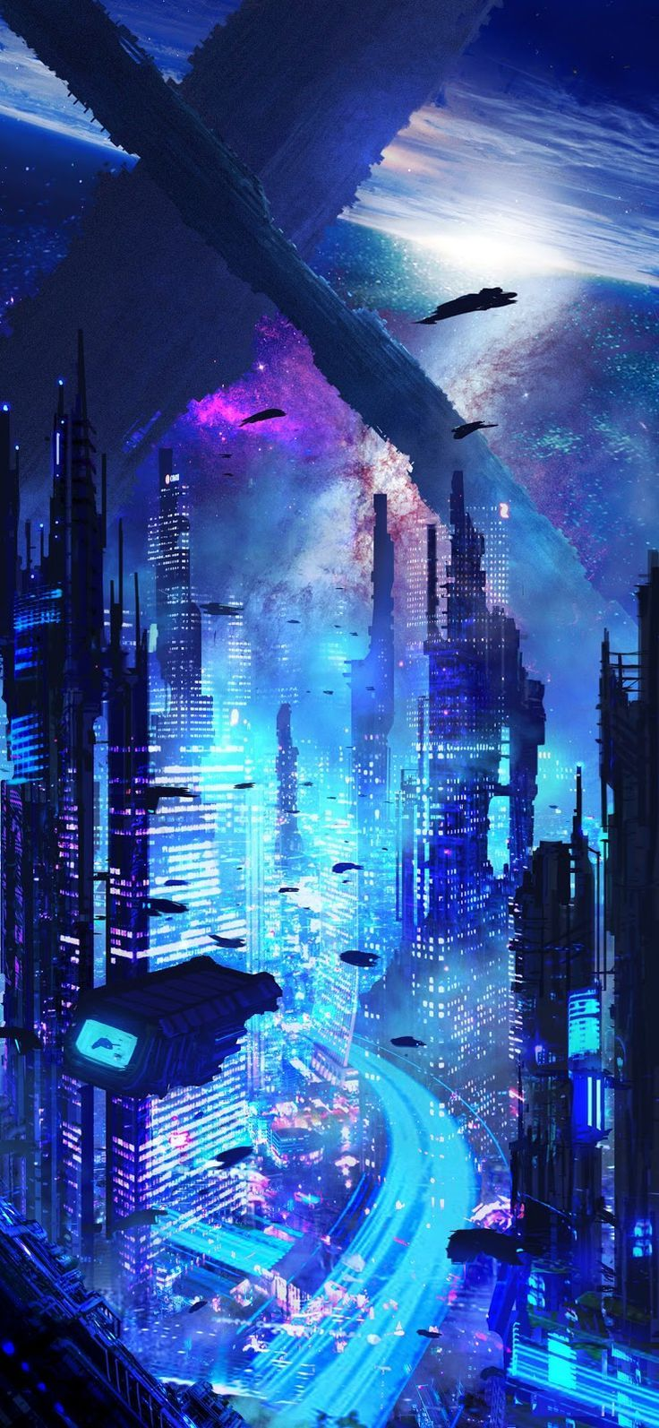 Fictional City Iphone X City Fictional Iphone Wallpapers 4k Free Iphone Mobile Games Cyberpunk City Futuristic City Futuristic Art
