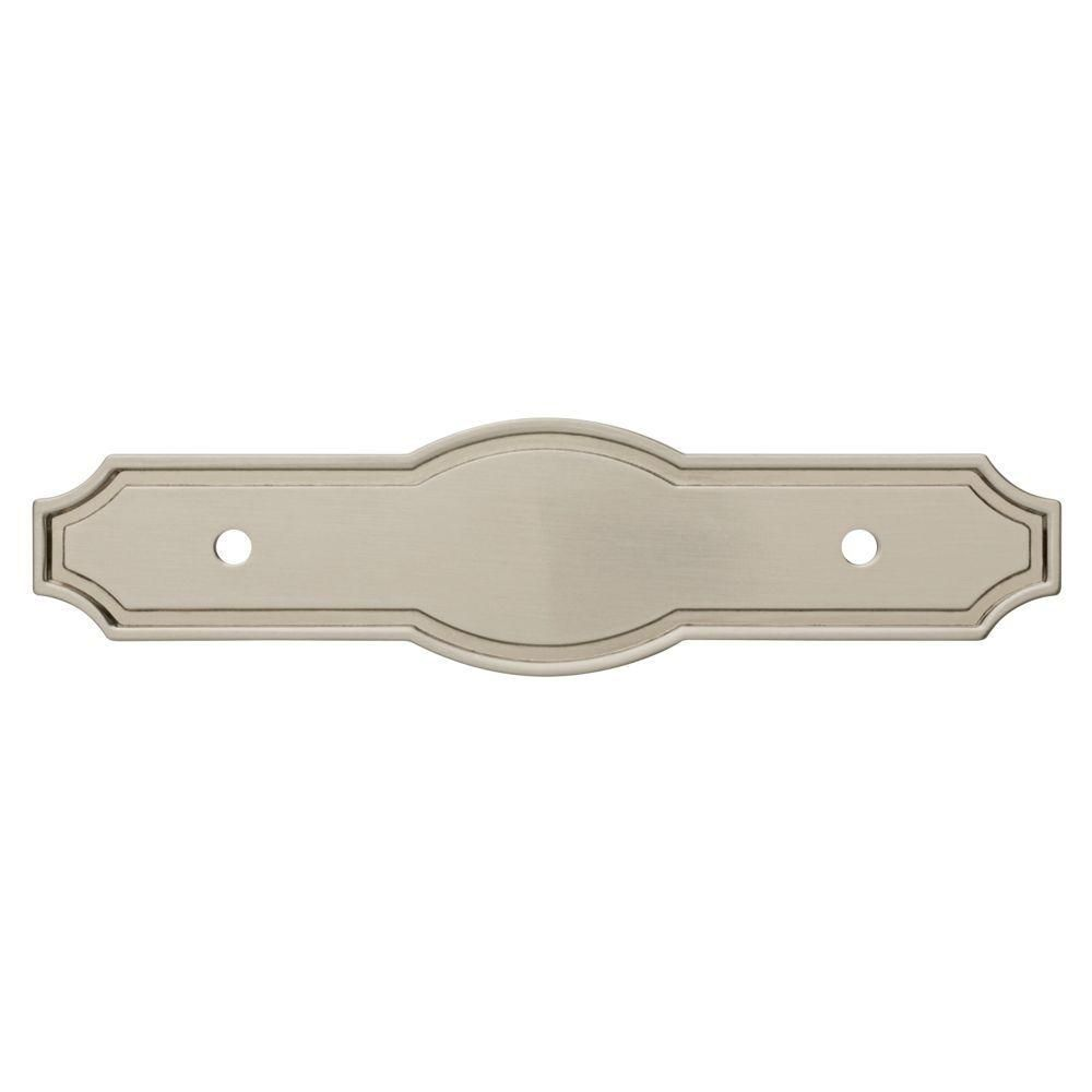 Liberty Pryce 3 in. Satin Nickel Cabinet Pull Backplate-P33410C-SN-C ...