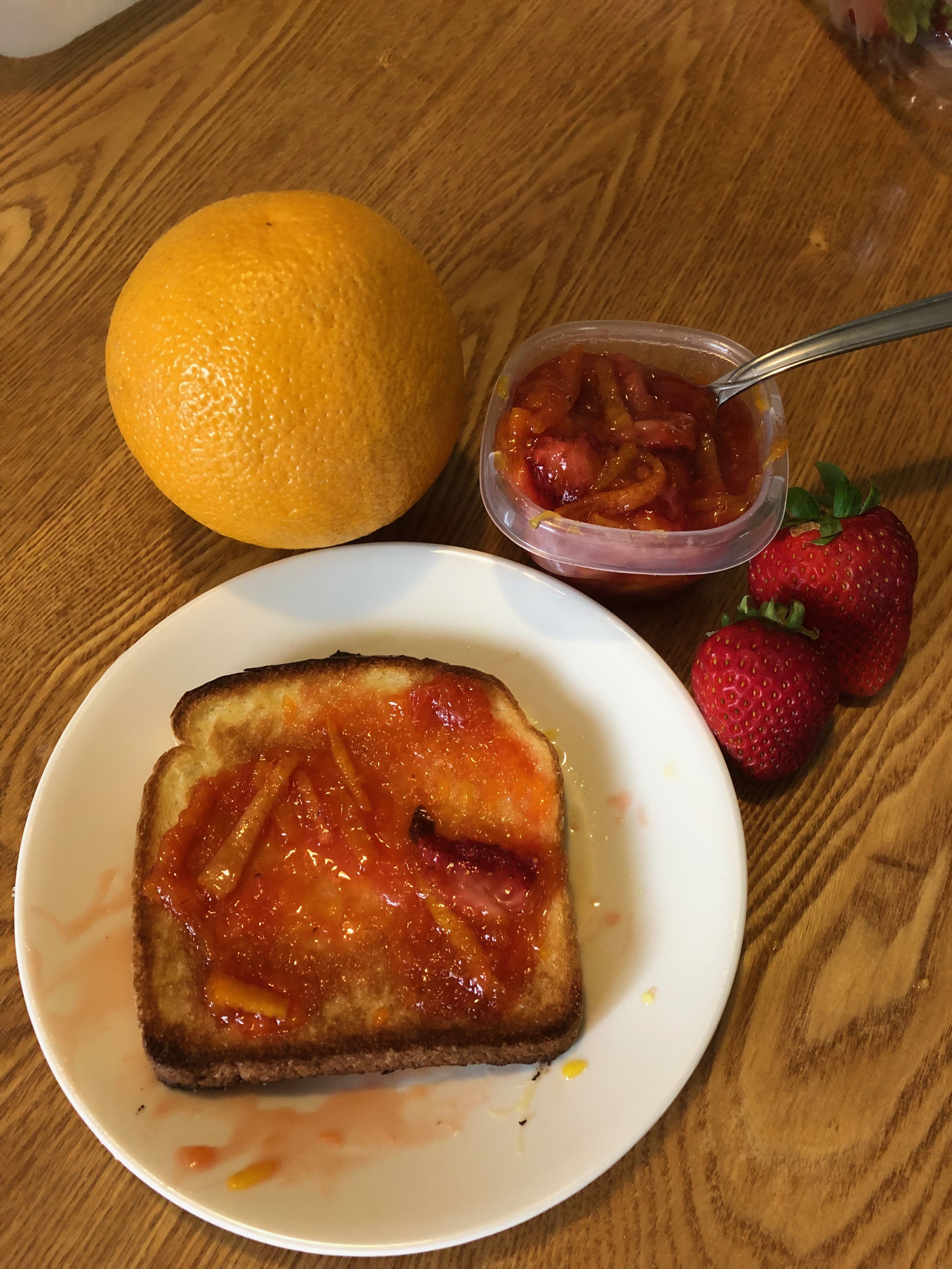 Strawberry Orange Marmalade With A Touch Of Ginger Food Yum Breakfast