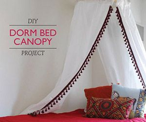 15 DIY Dorm Room Ideas To Save Money and Make Your Place Cute. Diy CanopyDorm Bed ... : diy canopy bed dorm - memphite.com