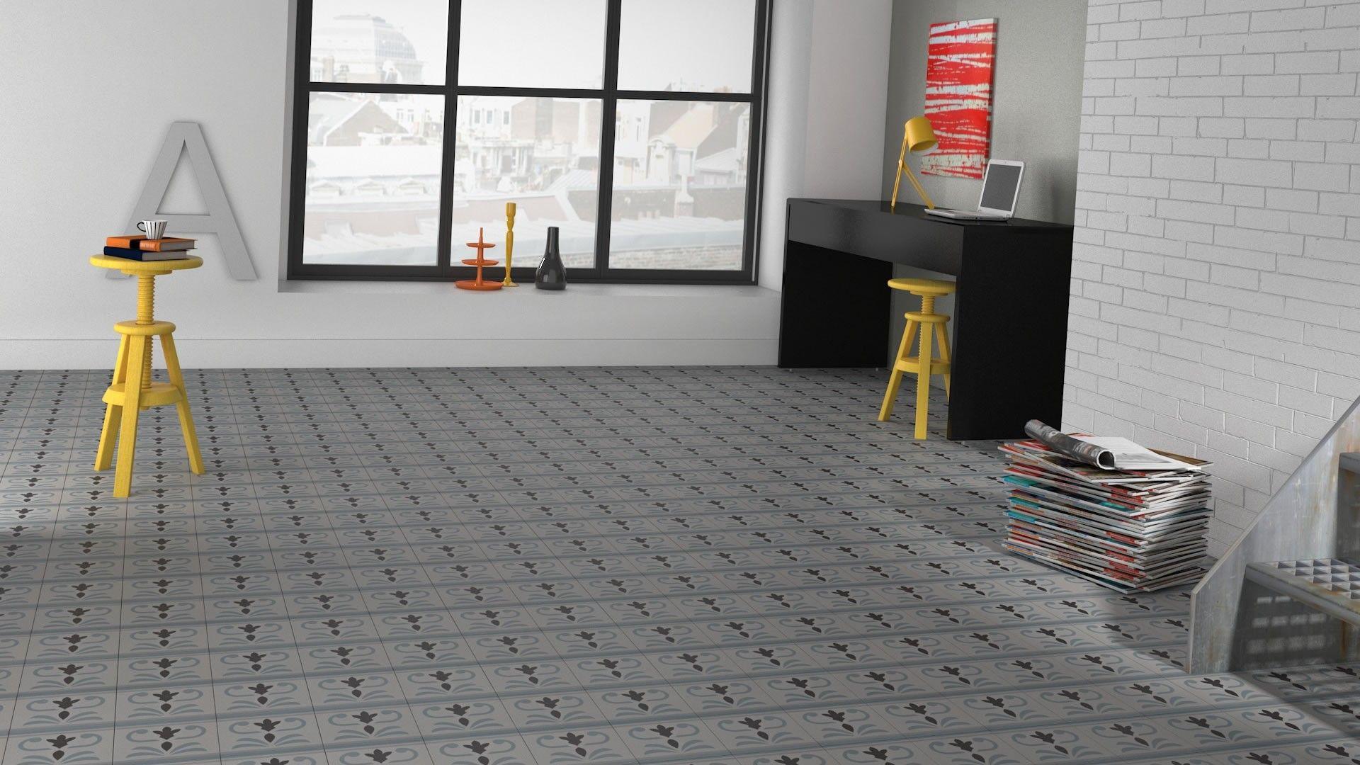 28 20 20 carrelage carreau aspect ciment bordure for Carreau carrelage