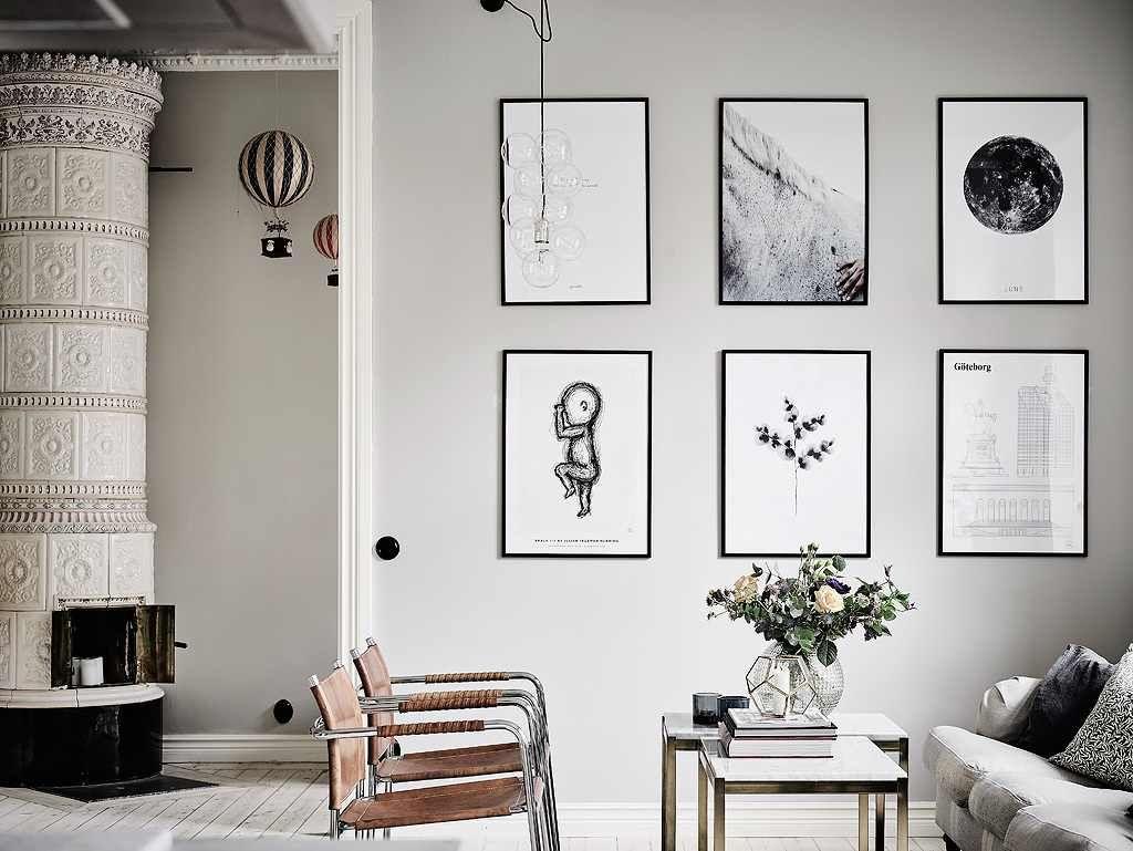 Скандинавское вдохновение: дизайн интерьера с серым и белым