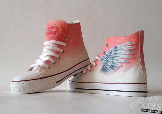 236dddba1758 Angel wings custom shoes with your name (if you want your name on them)