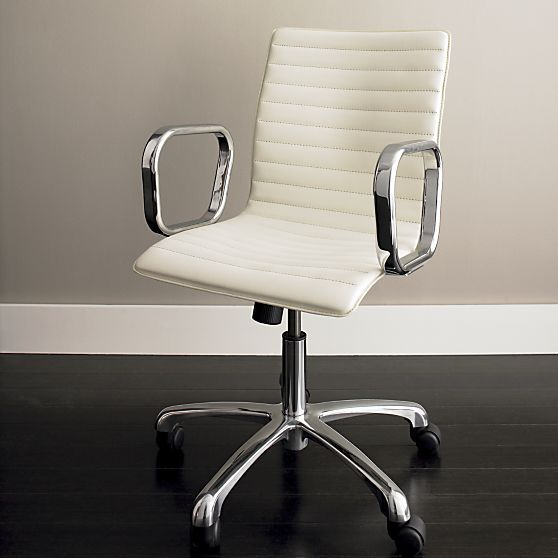 Ripple Ivory Leather Office Chair Leather Office Chair Office Chair Office Chairs Online