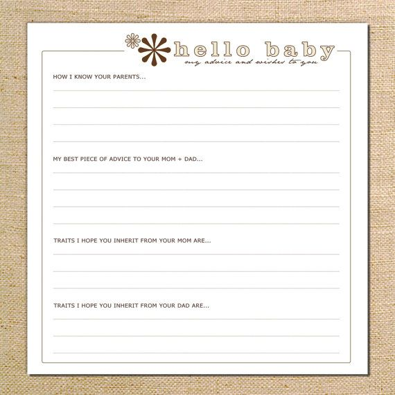 Adore...    Baby Shower Advice Scrapbook Pages by 2giggles on Etsy, $15.00