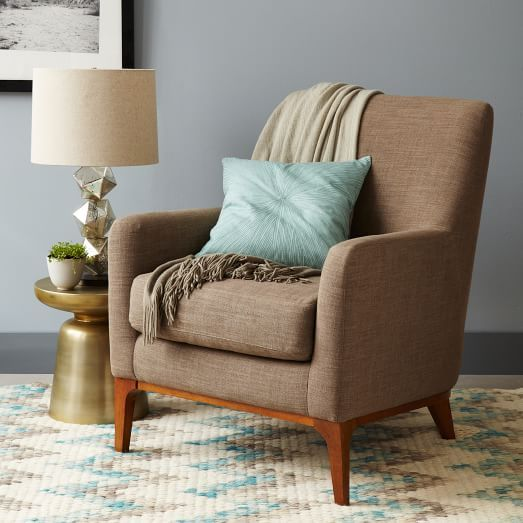 Charmant Sloan Upholstered Chair | West Elm   Iu0027ve Sat In This Chair   Very  Comfortable, Comes In Several Colors