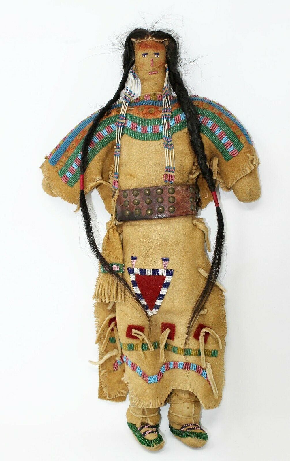 Indian Head Decoration Braid And Beads Native Wild West American Cowboys
