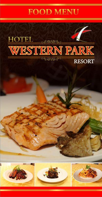 Food Menu Card Design For Hotel Western Park Resort