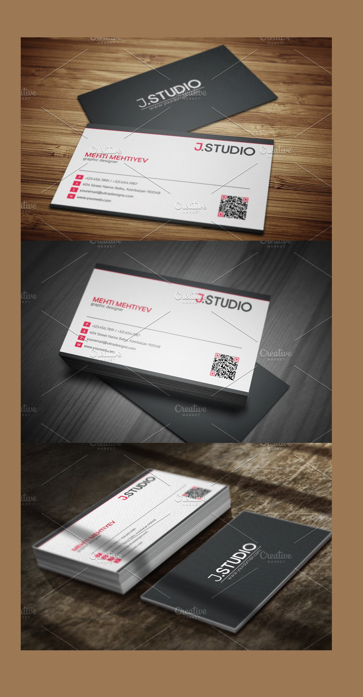 Clean Qr Code Business Card 1 Qr Code Business Card Modern Business Cards Cleaning Business Cards