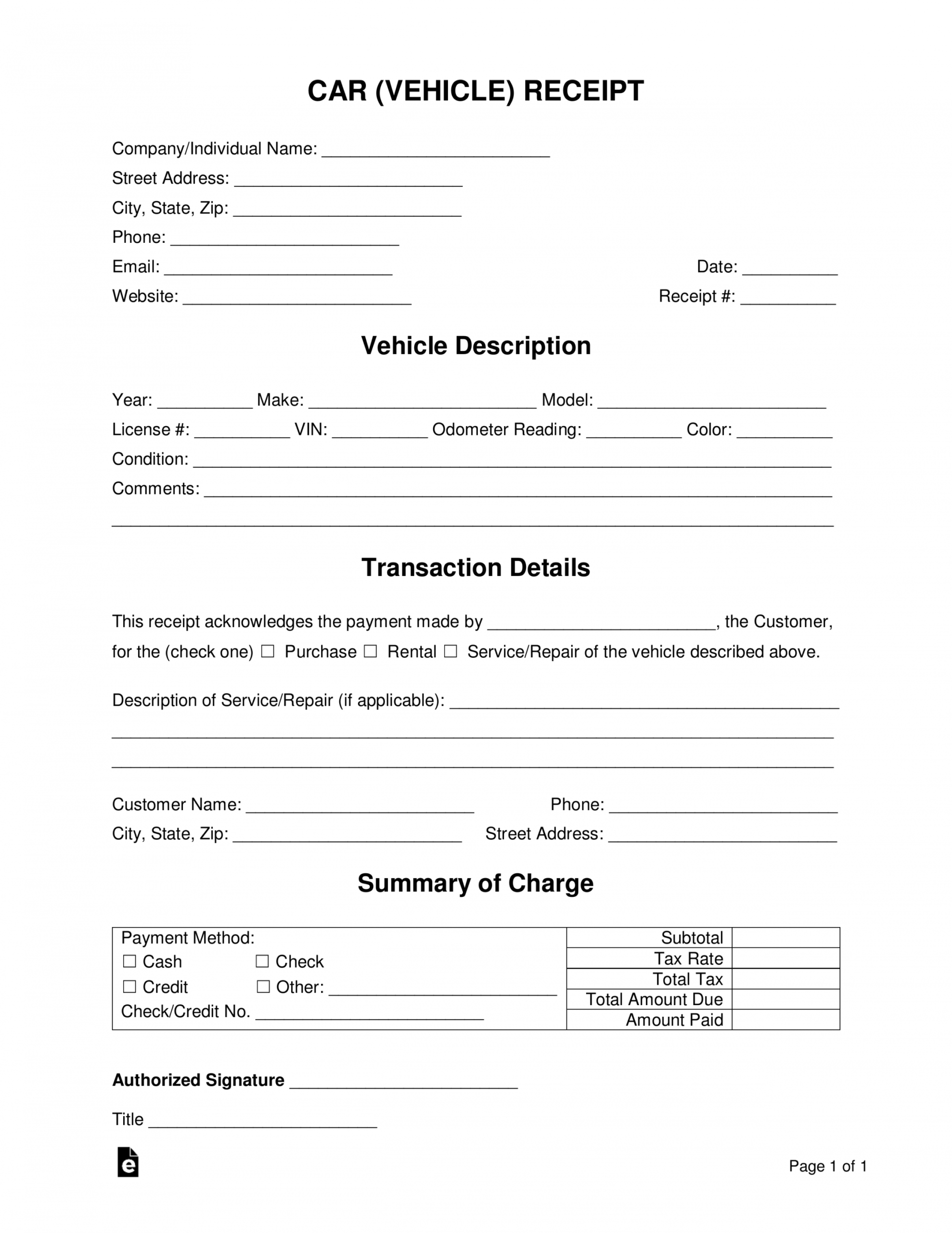 Explore Our Image Of Car Detailing Receipt Template Receipt Template Templates Receipt