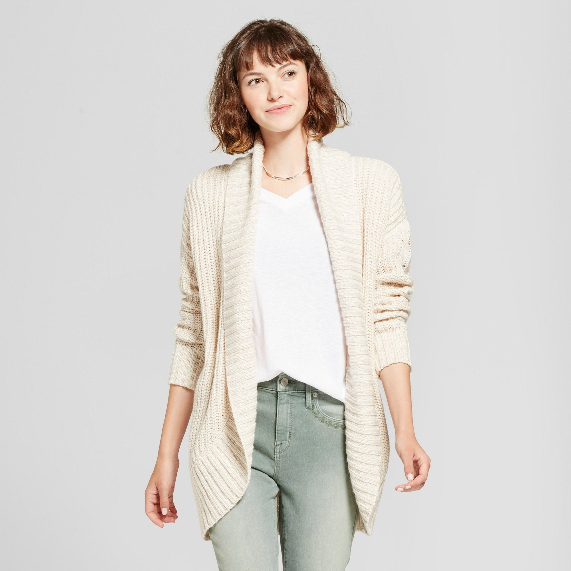 Women's Chunky Cocoon Cardigan - Mossimo Supply Co. Cream (Ivory ...