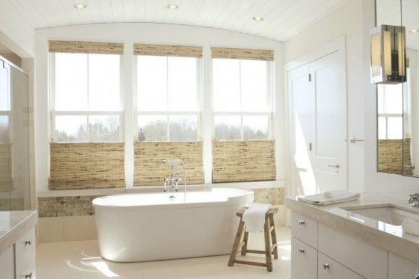 How To Decide The Best Window Treatments For Your Fall Home Bathroom Window Treatments Bathroom Windows Coastal Bathroom Design