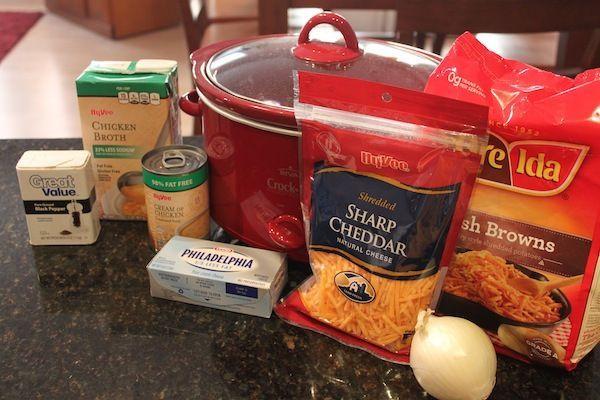 Crockpot Recipe for potato soup.
