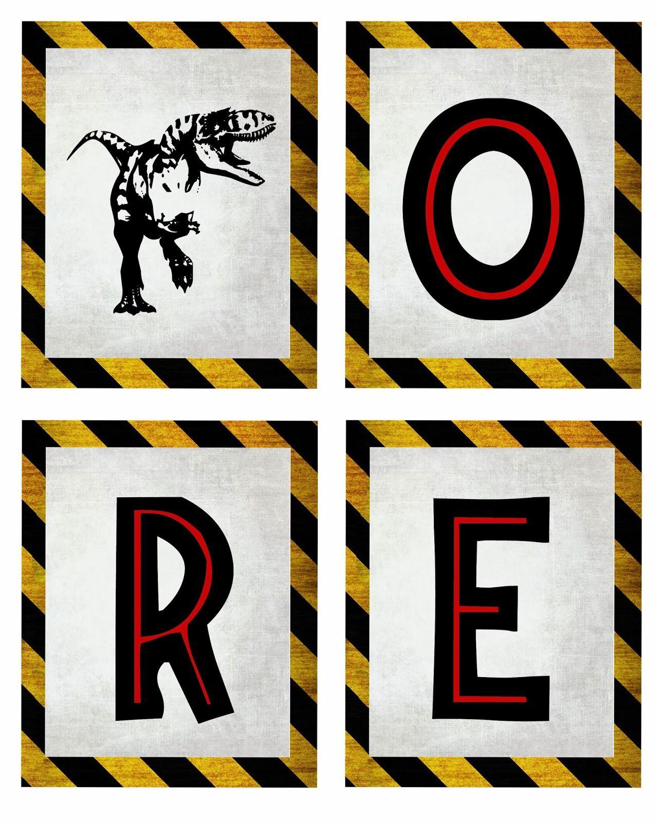 Bringing Home Ezra: Free dinosaur (Jurrasic Park) party printables ...