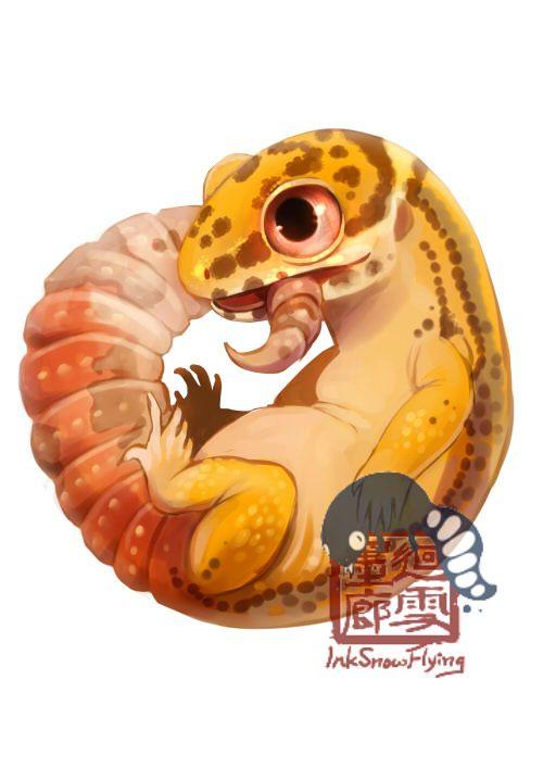 Leopard Gecko by Silce-Wolf on DeviantArt #leopardgeckos