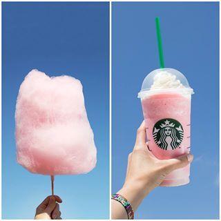 Vanilla Bean Frappuccino W 3 Pumps Raspberry Syrup Cotton Candy Cotton Candy Frappuccino Starbucks Frappuccino Frappuccino