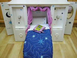 RETIRED American Girl doll Bed  3 in 1 Murphy Bed Wardrobe Closet