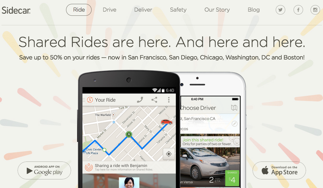 10 Sidecar Ride Credit Taking on Uber & Lyft Sidecar