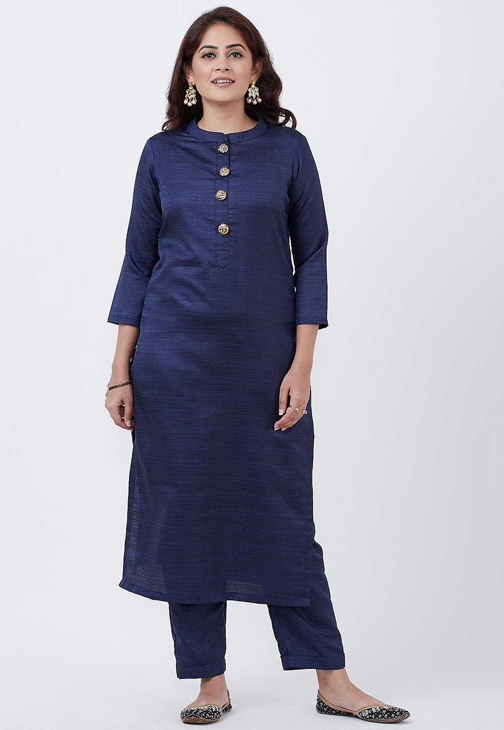 Women/'s art silk straight Kurta For Office  Casual  Party  Outing
