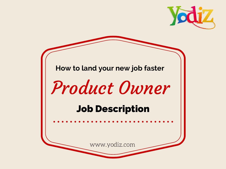 Product Owner Job Description  Job Description Lean Kanban And