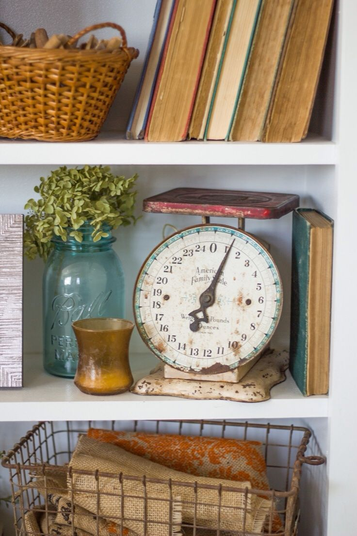 Decorating With Antiques antique shelf styling // decorating with antiques {whitnelson
