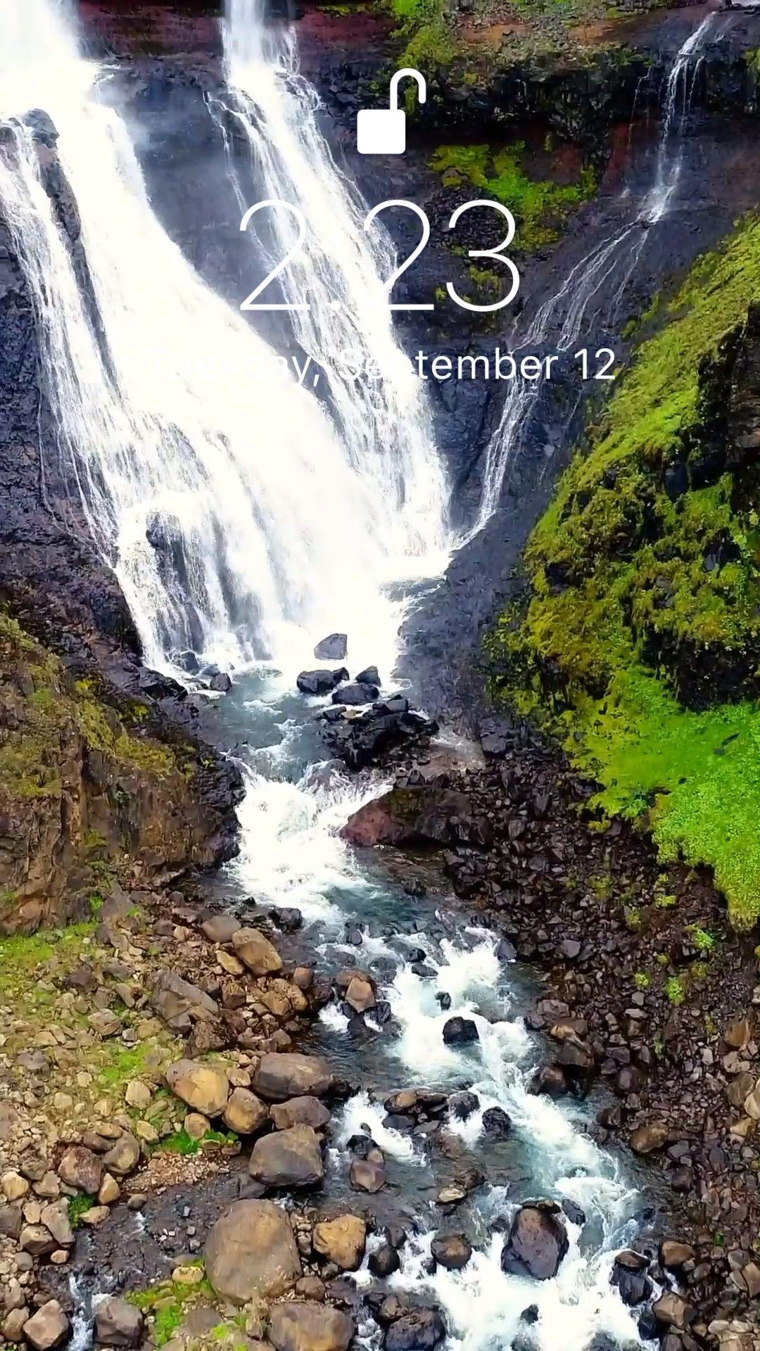Beautiful Waterfall Wallpaper Video Waterfall Wallpaper Iphone Wallpaper Waterfall Beautiful Nature Wallpaper Hd