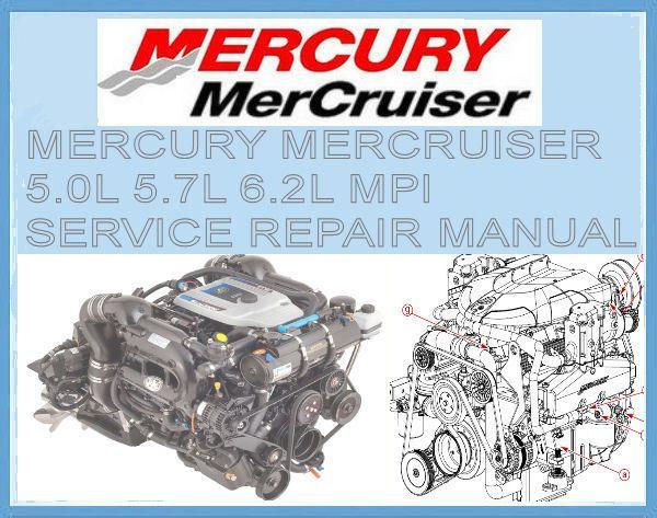 mercury mercruiser 350 305 377 c i 5l 5 7l 6 2l engine service rh pinterest com mercury service manual pdf download mercury service manual 23