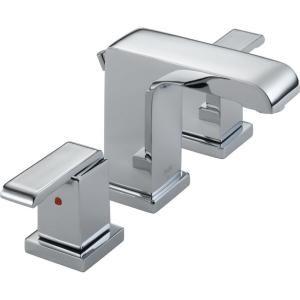 Delta   Arzo 8 in. Widespread 2-Handle High-Arc Bathroom Faucet in Chrome