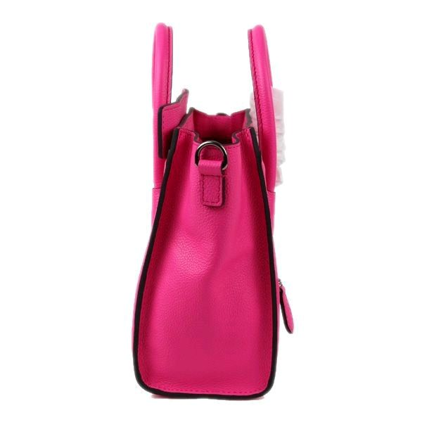 Celine Small Luggage Tote Neon Pink Leather Bag 2 hunting for limited  offer,no tax and free shipping. handbags  design  totebag  fashionbag   shoppingbag ... ea18cae344