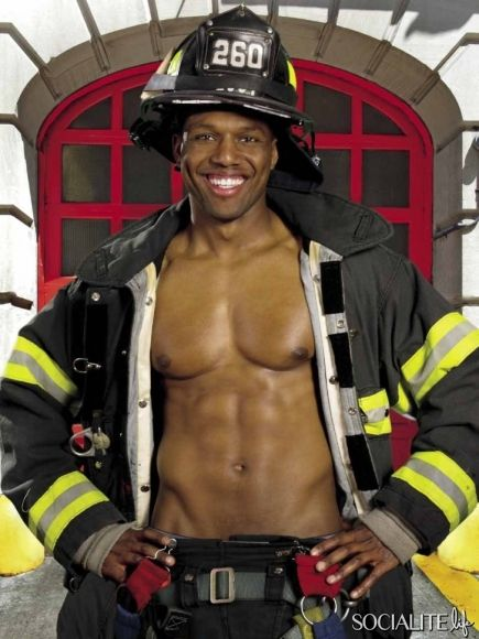 Sexy black firefighter picture