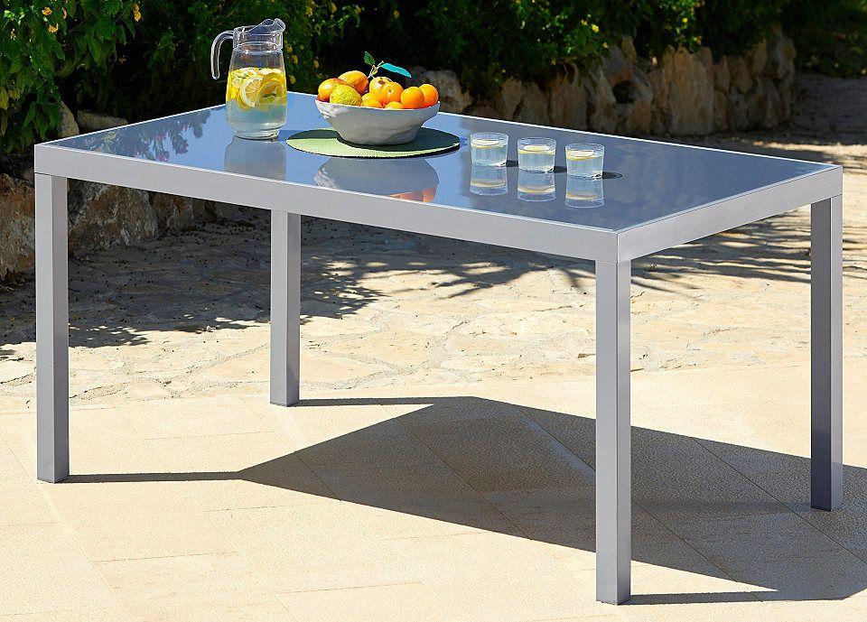 Gartentisch Taviano Aluminium 150x90 Cm Silber Jetzt Bestellen