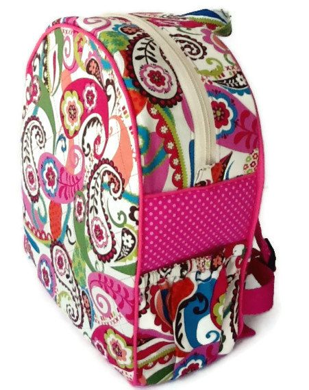 Girls Backpack Toddler Preschool Quilted Pink Book