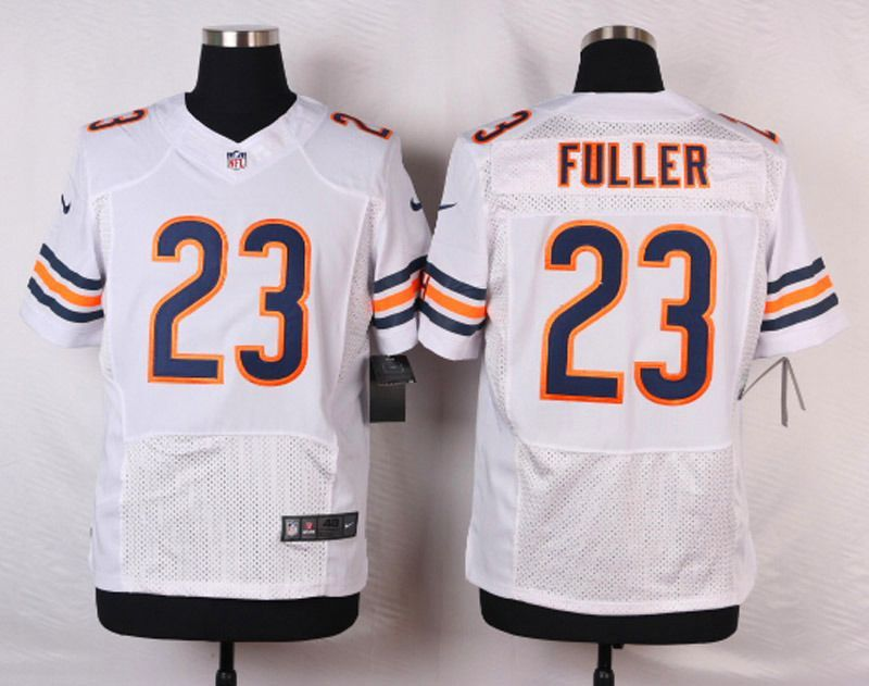 NFL Customize Chicago Bears 23 Kyle Fuller White Men Nike Elite Jerseys 2561d4f31