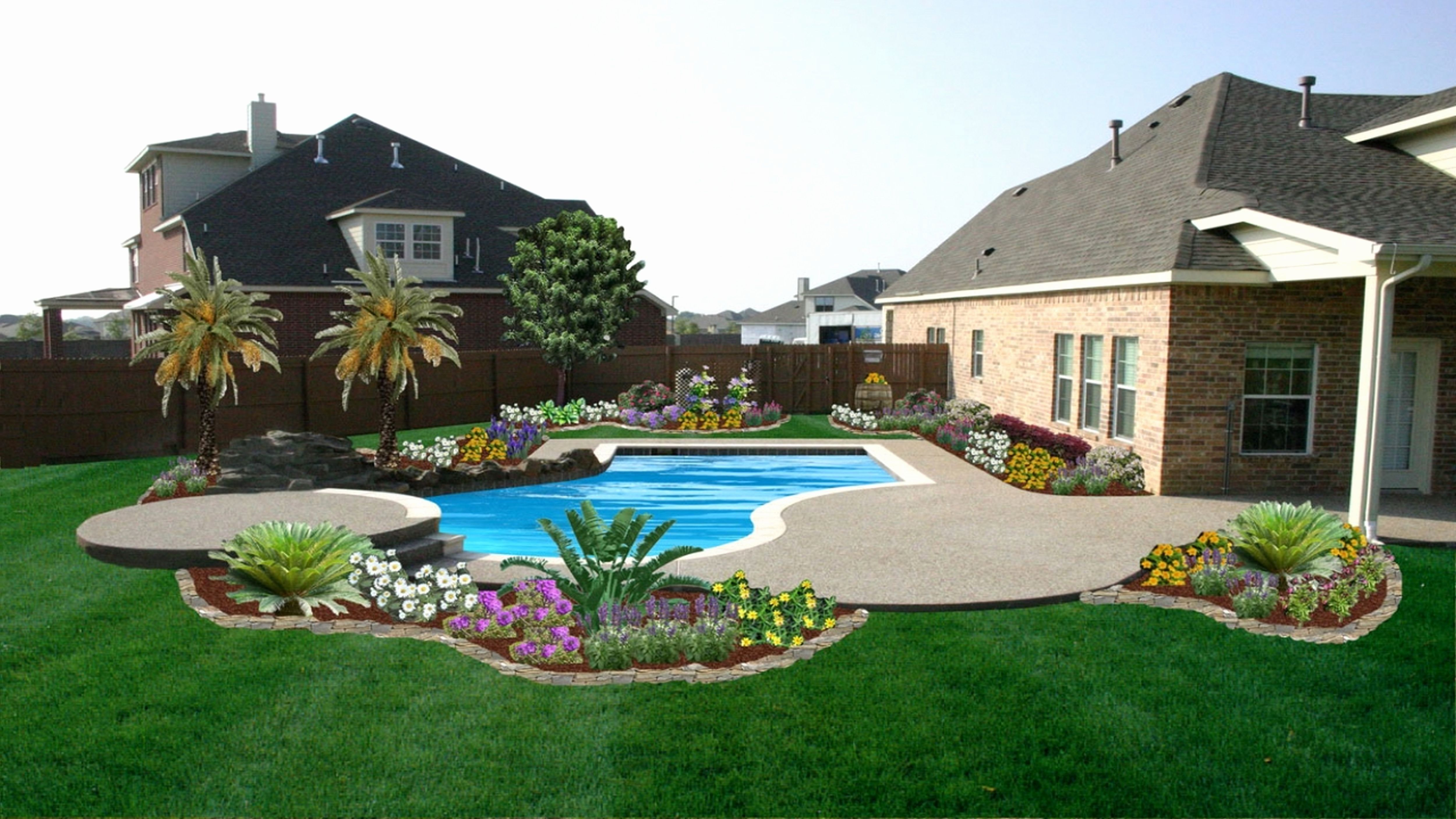 Landscape Ideas Around Pool Beautiful Backyard Landscaping ... on Backyard Inground Pool Landscaping Ideas id=59532