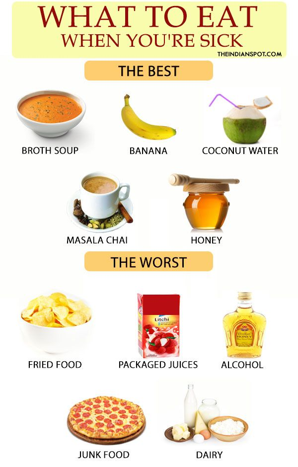 best and worst foods to eat when you are sick the most popular