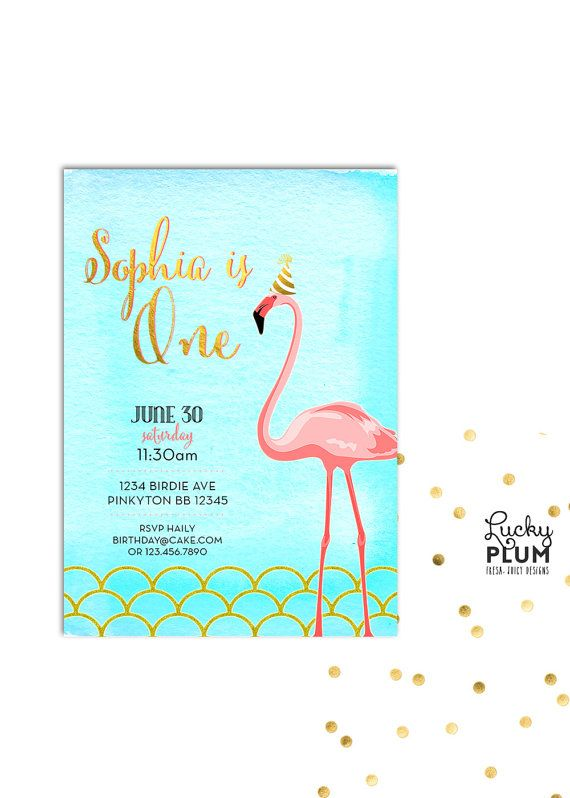 Flamingo Birthday Invitation Design A lovely sweet pink flamingo – Flamingo Birthday Invitations