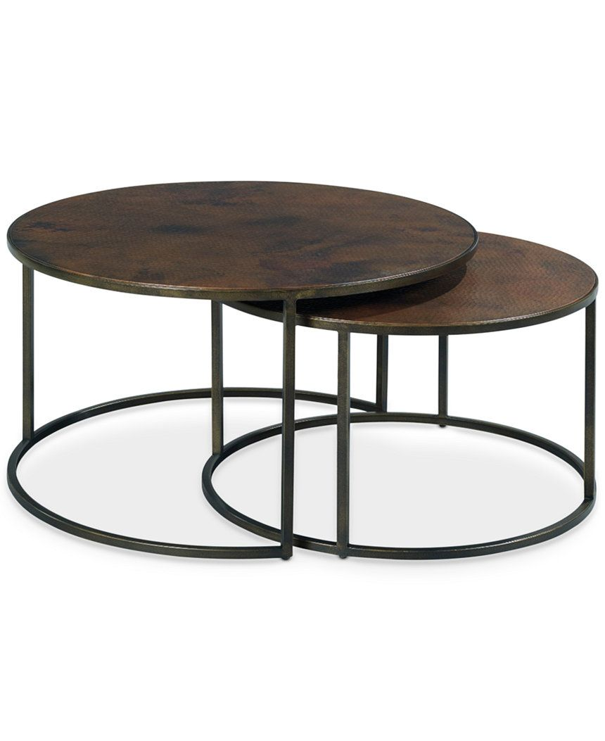 Copper Round 2 Piece Nesting Coffee Table Set Furniture Macy S Nesting Coffee Tables Coffee Table Round Coffee Table [ 1053 x 860 Pixel ]