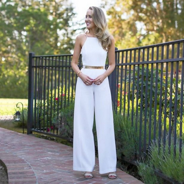 Black Halo High Neck Spaghetti Strap Off White Ivory Jumpsuit Reiss