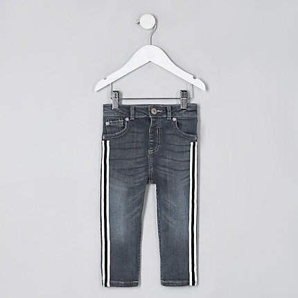 db21f0907b4 Mini boys mid blue Sid tape skinny jeans | Products | Girls jeans ...