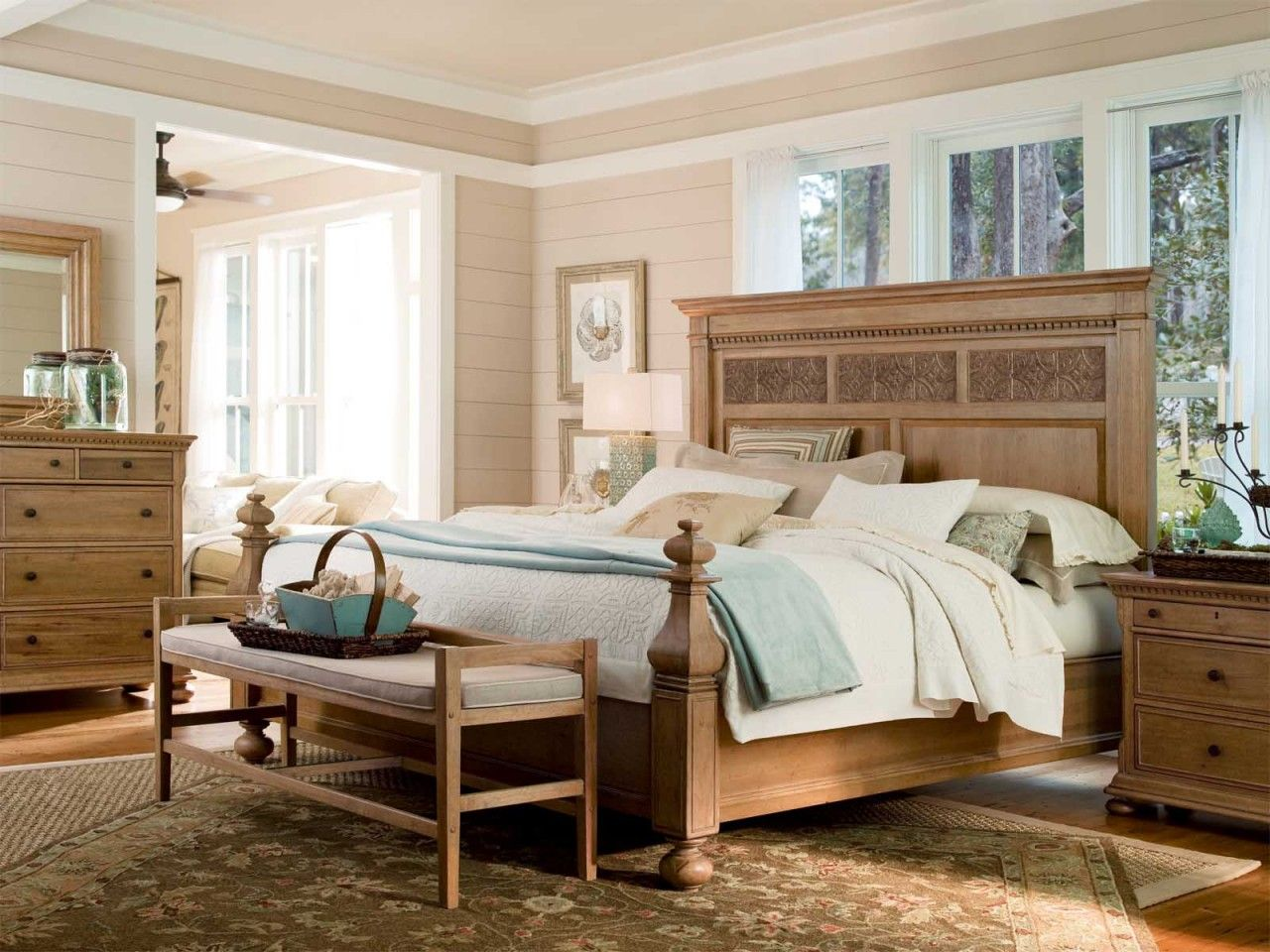 Universal Furniture Paula Deen Down Home 4pc Aunt Peggy S Bedroom