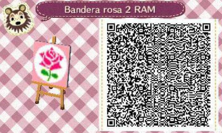 Este es un QR Code para Animal Crossing; como podéis observar, es una bandera rosa en color fucsia. [2-17]  Lo podéis encontrar en mi canal de YouTube: https://www.youtube.com/channel/UCh6uwa2CjSgR4WQ-ghRQY6Q (Roxy).  ¡Espero qué os guste! ;)