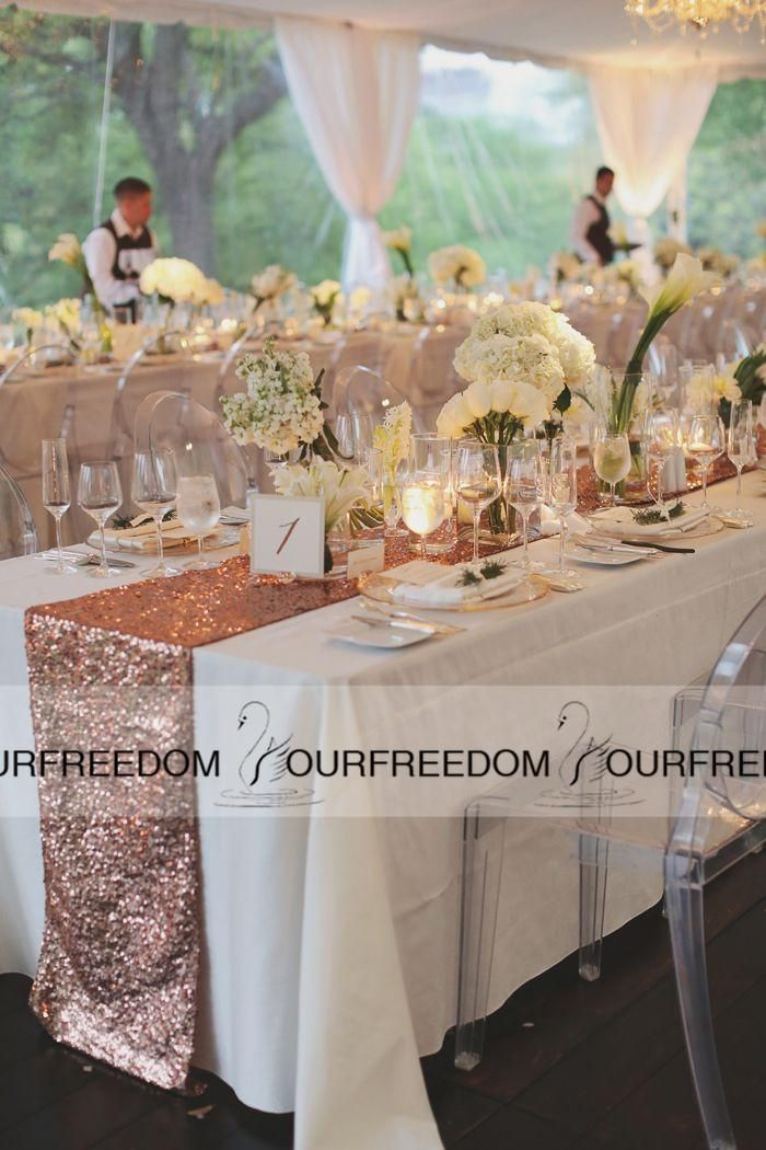 Bling Sequins Table Cloths Table Centerpieces At The Four