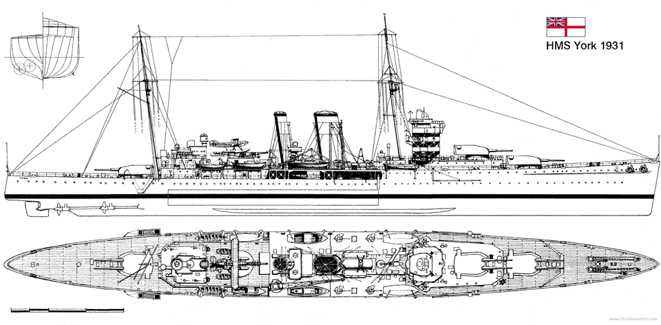 Blueprint HMS York