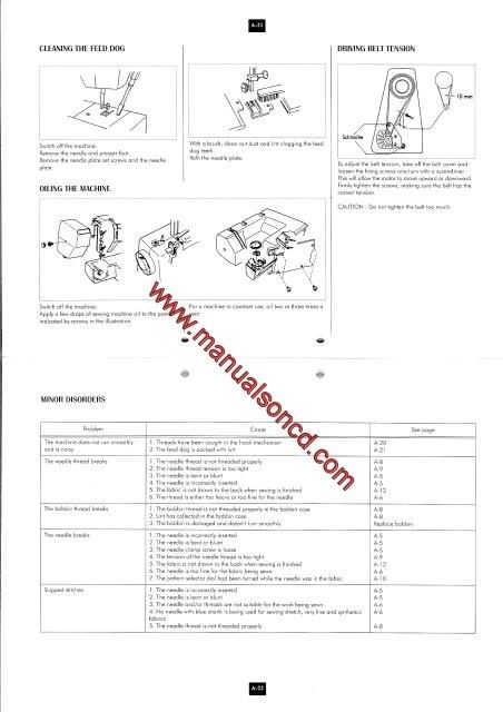 Elna 2002-2004-2006 Sewing Machine Instruction Manual