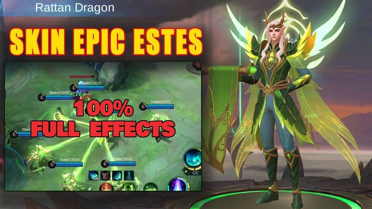 Script Skin Mobile Legends Estes Epic Rattan Dragon Di 2020 Dragon