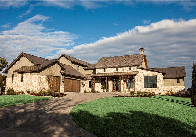 Lake Home With Transitional Interiors Hill Country Homes Farmhouse Exterior Transitional House