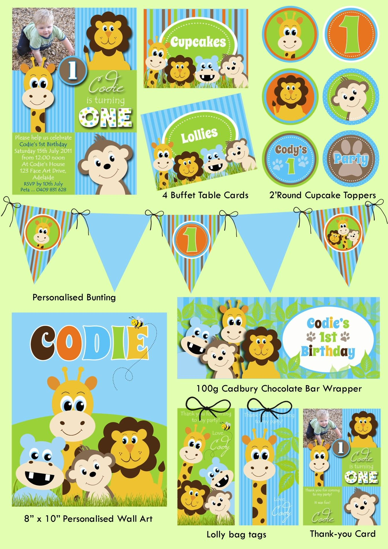 Jungle Animals Party Printable