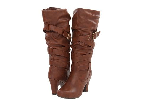high heel boots, Brown heeled boots