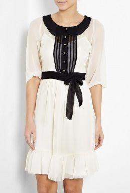 Meadow Contrast Collar Silk Dress by ALICE By Temperley