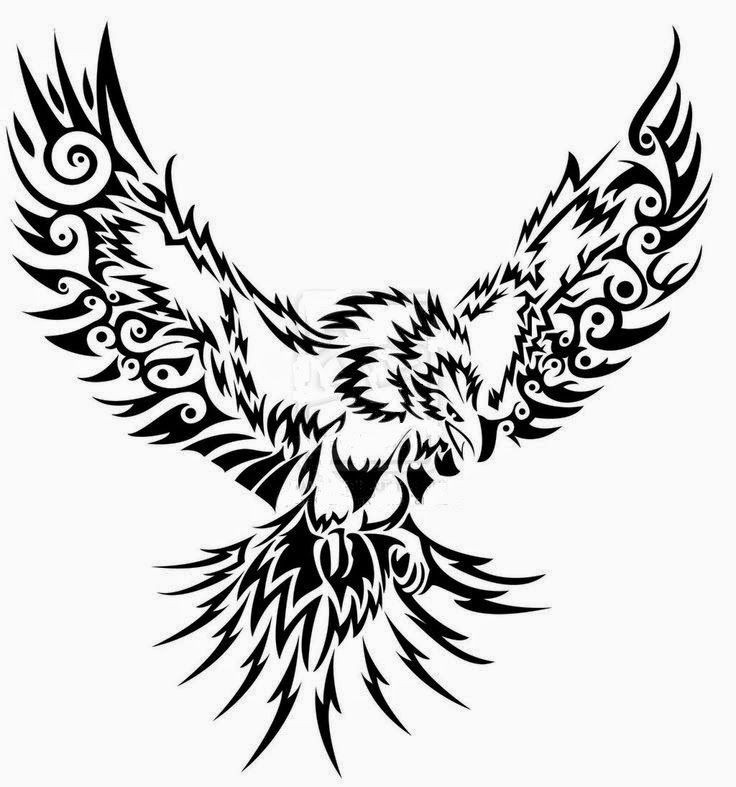 Flying eagle tribal | Tribal | Tribal tattoos, Tribal eagle